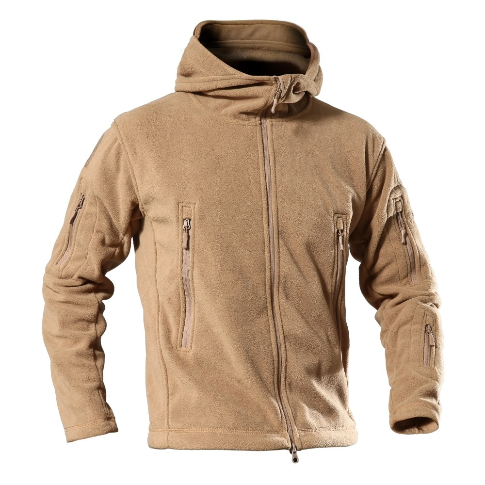 2018 Military Man Fleece TAD Tactical Softshell Jacket Outdoor Polartec Thermal Sport Hiking Polar Hooded Coat Airsoft Hunting