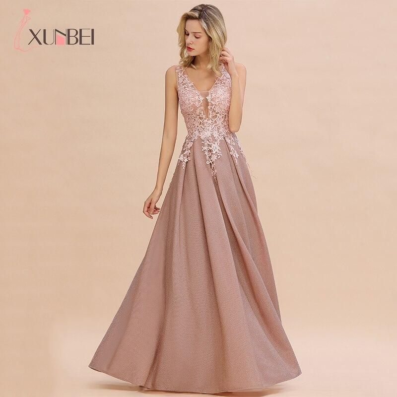 ¡Novedad de 2020! Vestidos largos de noche de encaje con escote en V y cremallera, traje Formal con fotos reales, Vestidos Elegantes