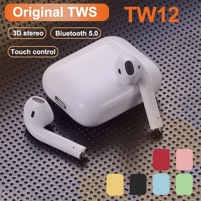 Original i12 TWS Stereo Wireless Bluetooth Earphone Earbuds Headset With Charging Box For Smart Phon