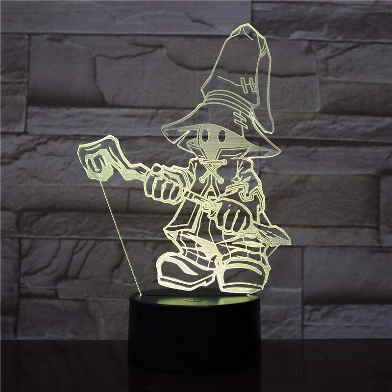 VIVI Ornitier 3D Table Lamp Game FINAL FANTASY IX Night Light LED Touch Sensor Decorative Lamp Birthday Holiday Festival Gift