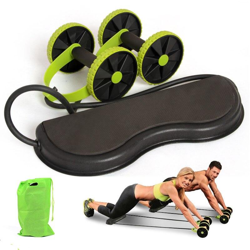 שרירים תרגיל ציוד כוח רול בטן ומלא גוף אימון כפול גלגל זרוע מותניים רגל מאמן בית חדר כושר כושר