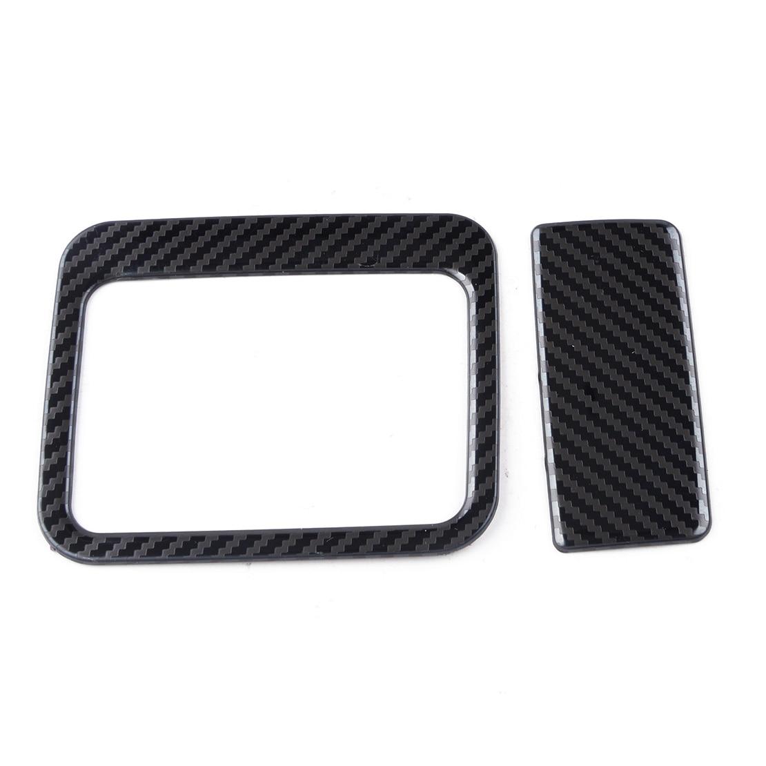Car Carbon Fiber Black Style Co-pilot Glove Storage Box Handle Cover Trim Fit for Toyota Rav4 2019 2020