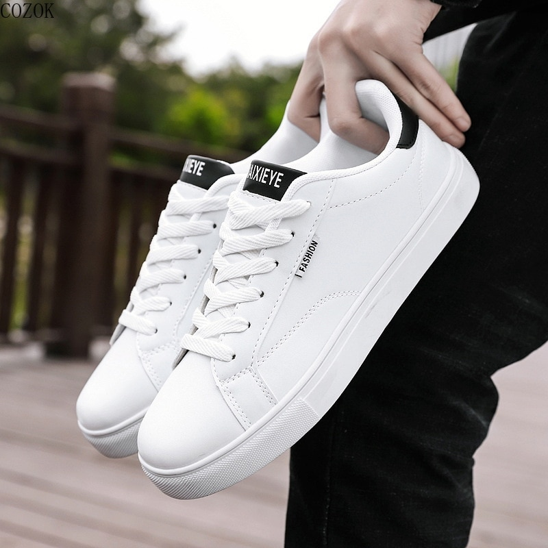 students White shoe Shoe White Sneakers Men's Casual Sneaker Korean Style Man Vulcanized Shoes for T