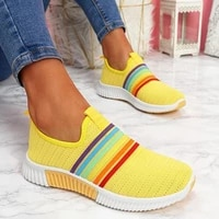 womens sneakers womens rainbow color vulcanized womens shoes breathable and comfortable 2020 ladies running shoes