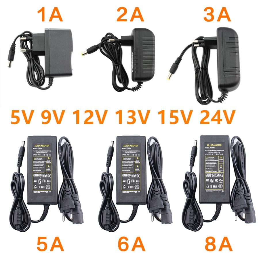 AC DC Power Supply 12V 5V 6V 8V 9V 10V 12V 13V 14V 15V 24V 1A 2A 3A 5A 6A 8A Transformer 220V TO 12V AC Power Adapter LED Driver
