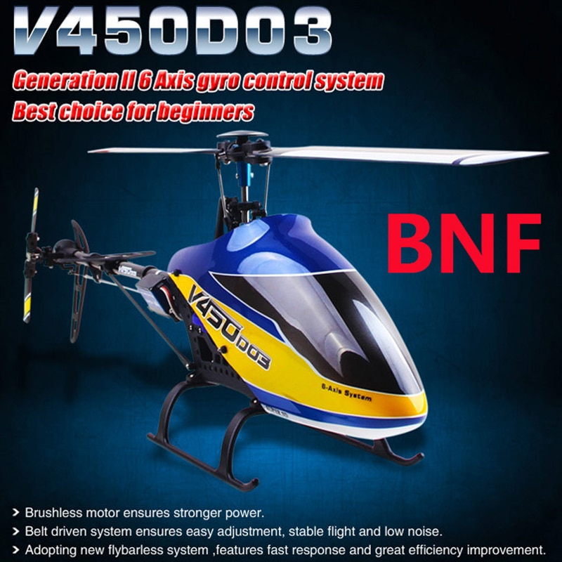 Walkera V450D03 Generation II 6 Axis Gyro Flybarless RC Helicopter (BNF Without Transmitter) (with B