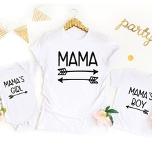 Mommy and Me Matching Set Mother and Son Matching Mama's Girl Family Picture Shirts Cute Mom Shirt G