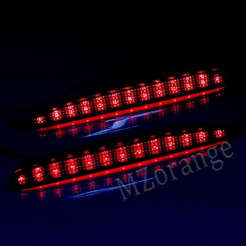 MIZIAUTO LED Rear Bumper Tail Light For Mazda 6 2003-2008  Red Lens Rear Bumper Reflector Tail Brake Stop Light