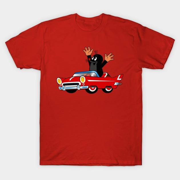 Camiseta para hombre, camiseta bonita con pequeño topo para regalo, camiseta para mujer