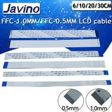10PCS Più lunghezze flessibile Piatto cavo FFC FPC LCD cable AWM 20624 80C 60V VW-1 FFC-1.0MM/FPC-0.5MM LCD connettore del cavo piatto