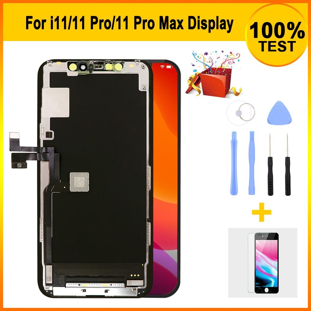 Premium LCD pantalla para IPH Pro 11/11/11 Pro Max con 3D MONTAJE DE digitalizador con pantalla táctil de reemplazo