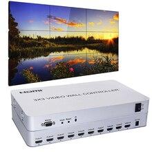 Contrôleur mural vidéo 3x3   9 canaux, 1 entrée HDMI et 9 sorties, et 13 Modes daffichage 1X2, 1x4,2x2,2x3,2x4,3x1,3x2,3x3,4x x x 1, 4x2