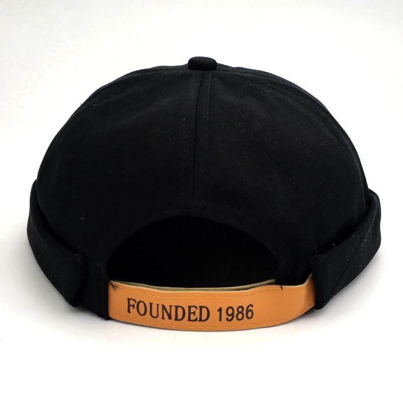 Streetwear Brimless Beanie Hip Hop Skullcap Docker melón marinero gorra corta sombreros invierno otoño Casual Beanies sombrero