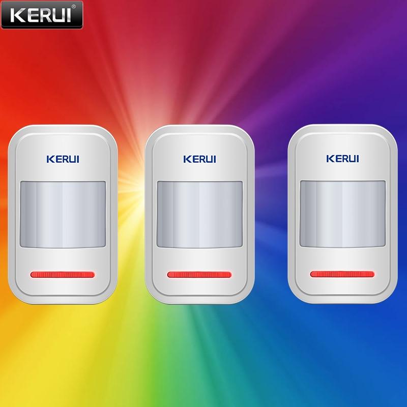 KERUI P819 3 قطعة 433 ميجا هرتز اللاسلكية PIR الاستشعار الذكية الأشعة تحت الحمراء كاشف حركة ل GSM PSTN أمن الوطن لص نظام إنذار