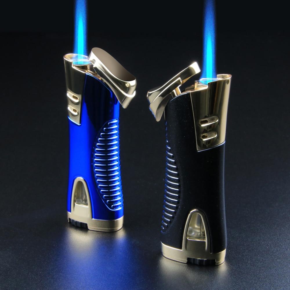 AliExpress - Jet Turbo Gas Lighter Square Side Slip Wheel Mini Lighters Firestone Loud Metal Cigar Smoking Lighters Cigarettes Accessories