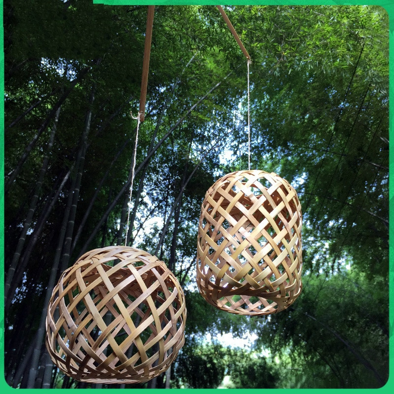 Chinese Handmade Bamboo Crafts Handmade Bamboo DIY Bamboo Lantern Bamboo Bamboo Strip Creative Hanging Lamp Shade Toys