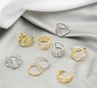 girafe punk metal rings for women geometric open finger ring statement charms womens jewel