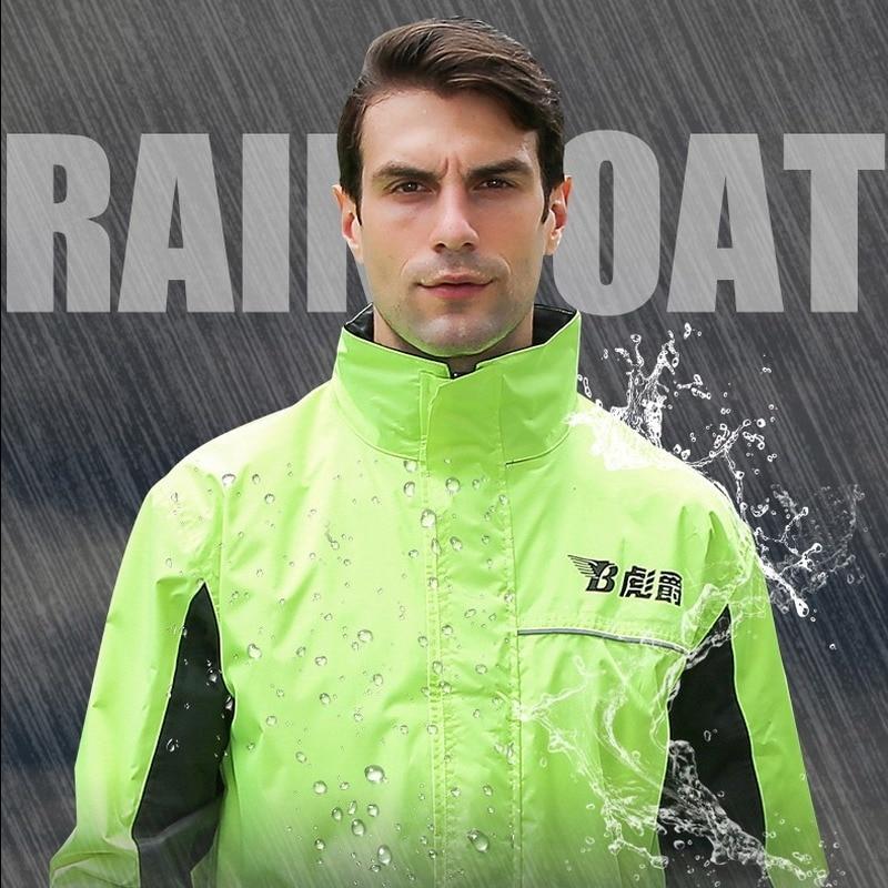 Reusable Fashion Raincoat Motorcycle Rain Suit Rainproof Raincoat Cycling Rain Protection Waterproof Coat Regenjas Rain Gear enlarge