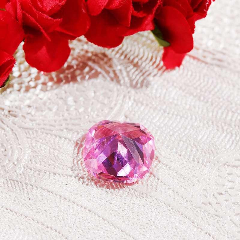 1 Uds 10,68cts 12x12mm zafiro rosa sin calentar corte de pera brillante piedra preciosa suelta para DIY joyería anillos collares pulseras