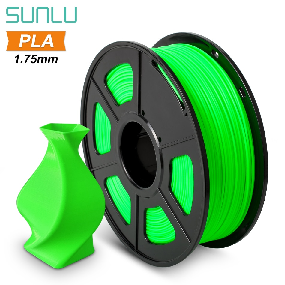 SUNLU PLA Filament 1.75mm 1kg Plastic PLA 3D Printer Filament Dimensional Accuracy +/-0.02mm