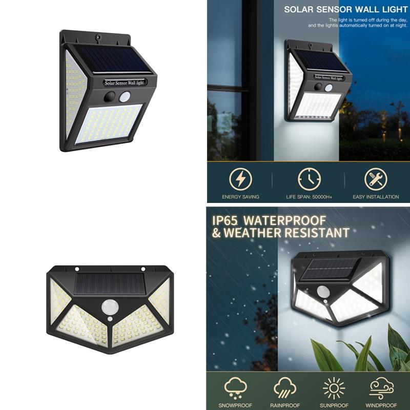 LED Wall Lights Solar Led Light Outdoor Lamp PIR Motion Sensor Waterproof Garden Street Lighting