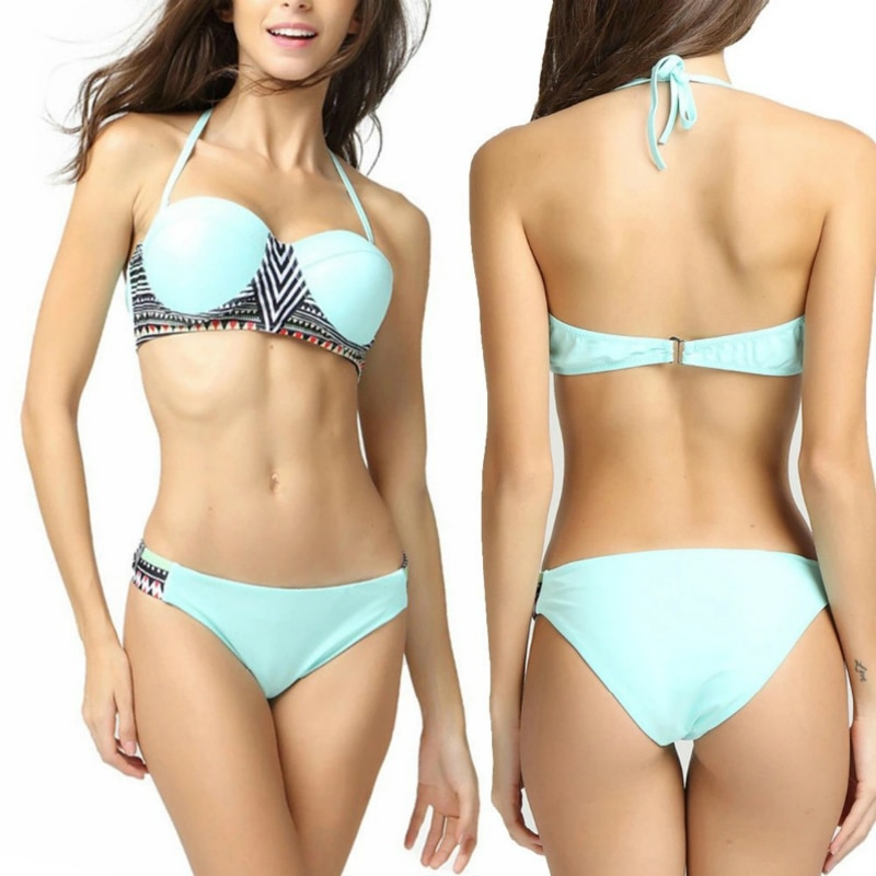 Ju xiong nuevo gráfico abstracto impresión hemisferio traje de baño Bikinis Bikini traje de baño Europa