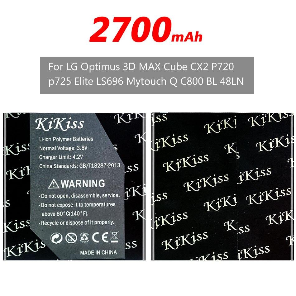 2700mAh para LG BL-48LN batería para LG Optimus 3D MAX P720 P725 Elite LS696 myTouch Q C800 SU870 batería + pista NO