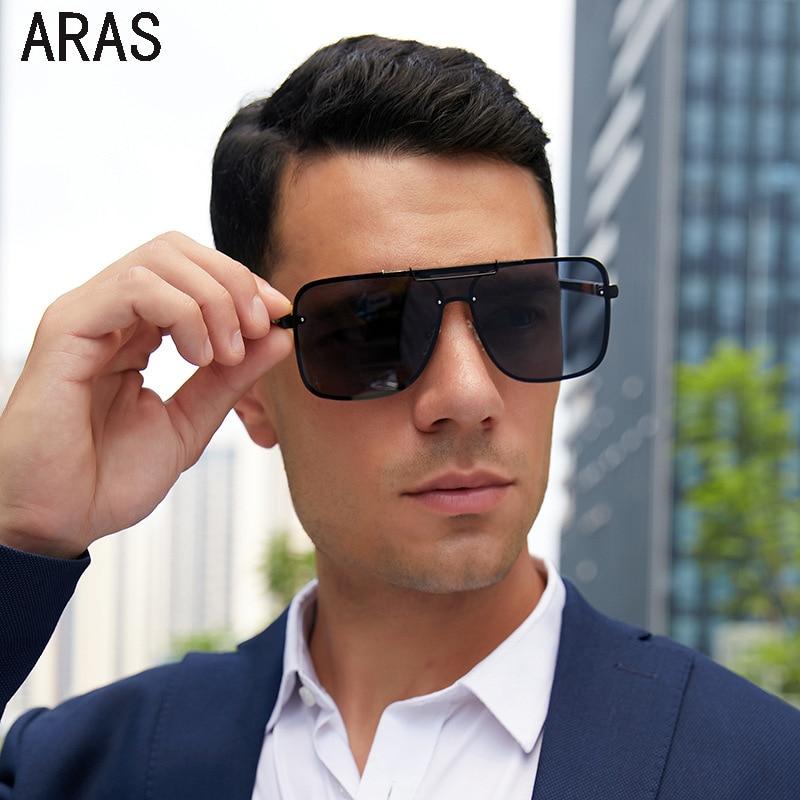 Мужские солнцезащитные очки, модные большие солнцезащитные очки, мужские брендовые дизайнерские очки, цельные Квадратные Солнцезащитные о...