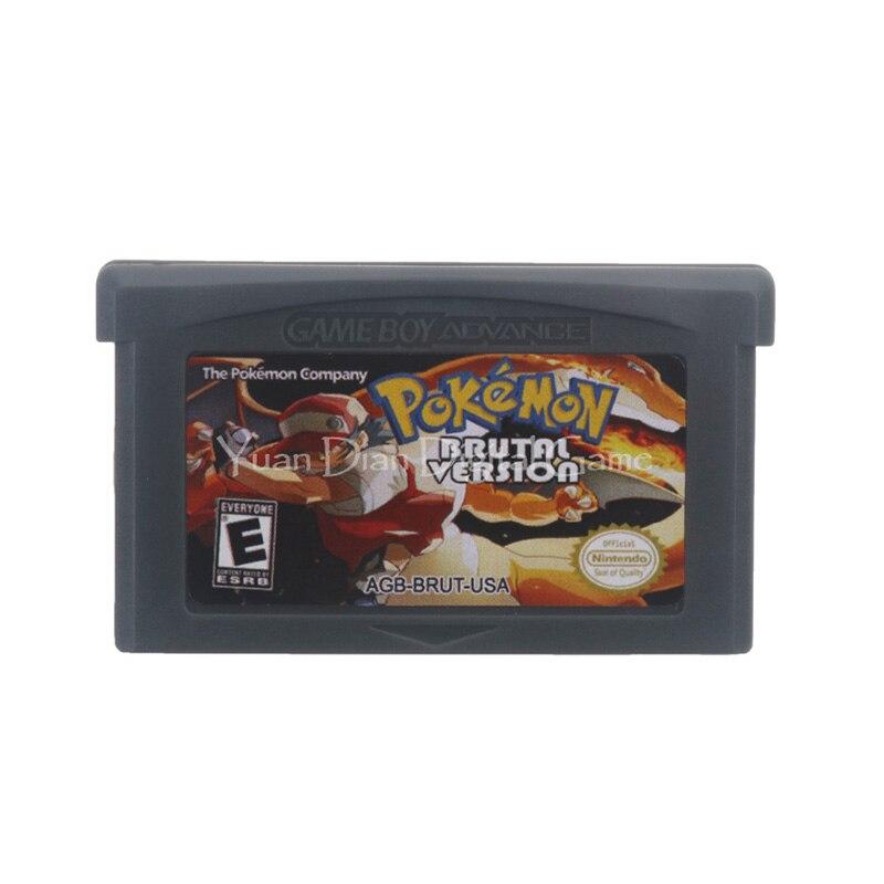 Для Nintendo GBA видеоигры картридж консоль карта Poke серия Брутальная версия Английский язык версия США