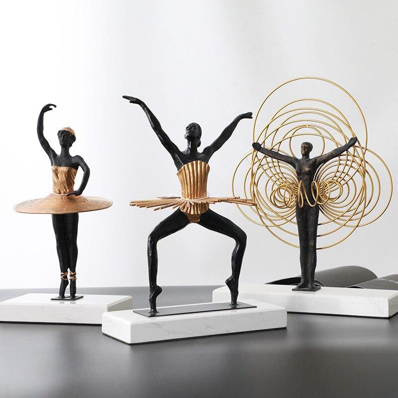 Decoración de mesa de estudio de estilo europeo del Norte con Base de mármol Natural creativo circo verde dorado para mujer