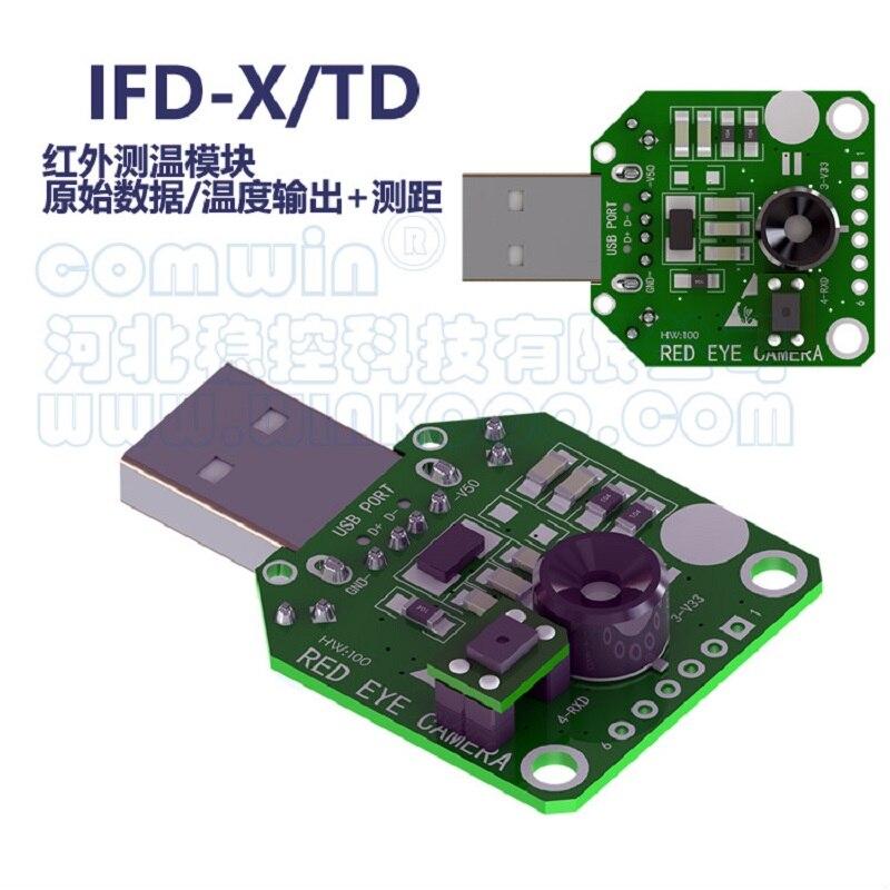 Infrarot imager thermische imaging modul Infrarot temperatur messung IFD-x rot-eye kamera MLX90640 Sensor handy USB