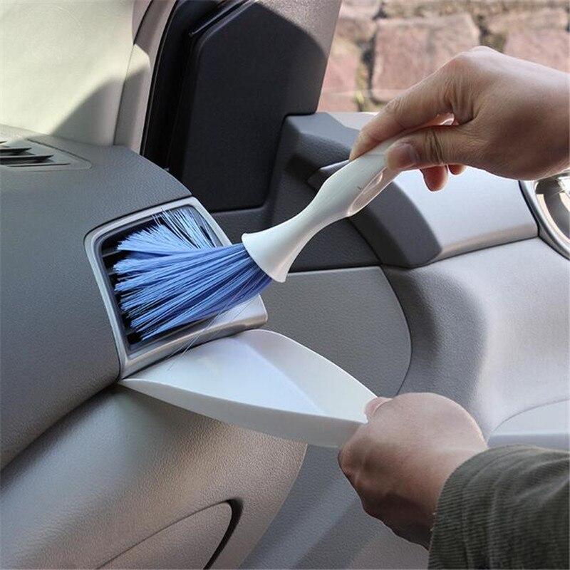 1 pçs portátil carro ar condicionado ventilação escova de limpeza instrumento de limpeza ferramenta de limpeza de carro escova multi-função escova de limpeza