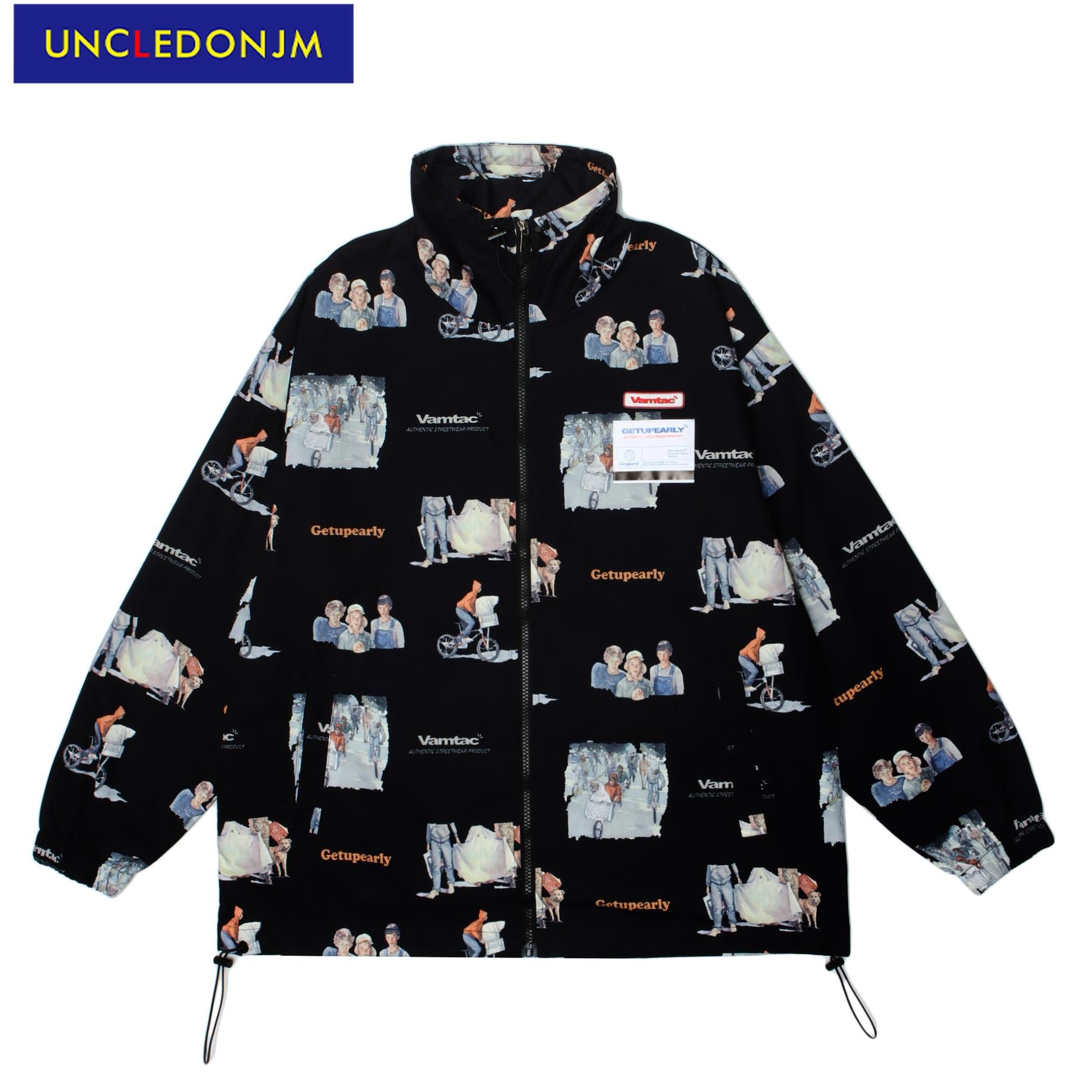 UNCLEDONJM мужская одежда ветровка мужская Корейская куртка Мужская модная одежда трендовая уличная одежда куртки для мужчин W650