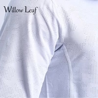willow leaf 2021 new mens o neck t shirt 3 basic colors long sleeve slim young boy pure color tee shirt 3xl size