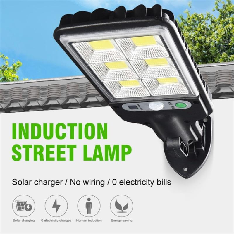 Светодиодный уличный светильник на солнечной батарее, уличный светильник для безопасности IP65, настенный светильник, 6168 водонепроницаемый ...