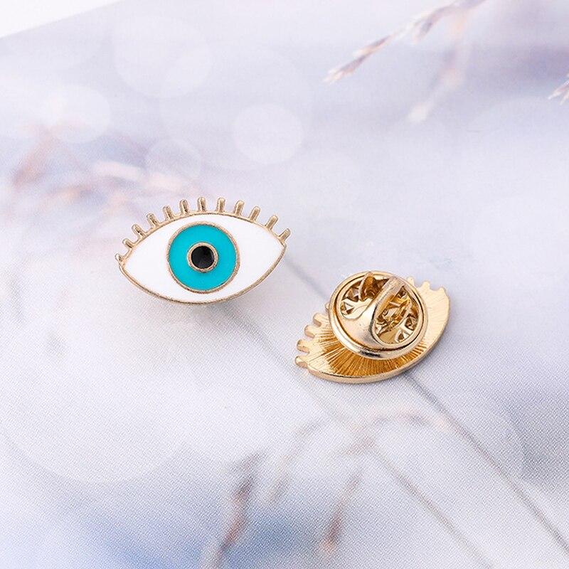 1 pçs bonito denim esmalte pino broche mau olho sapatos sorvete óculos de sol design ouro metal broches pinos saco esmalte dos desenhos animados jóias