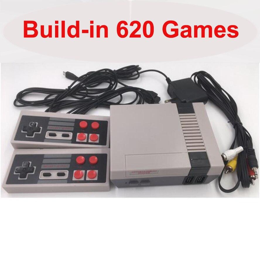 Built-in 620 jogos mini tv game console 8-bit retro clássico handheld jogador de jogos av saída de vídeo game-almofada brinquedos presentes 4 botões