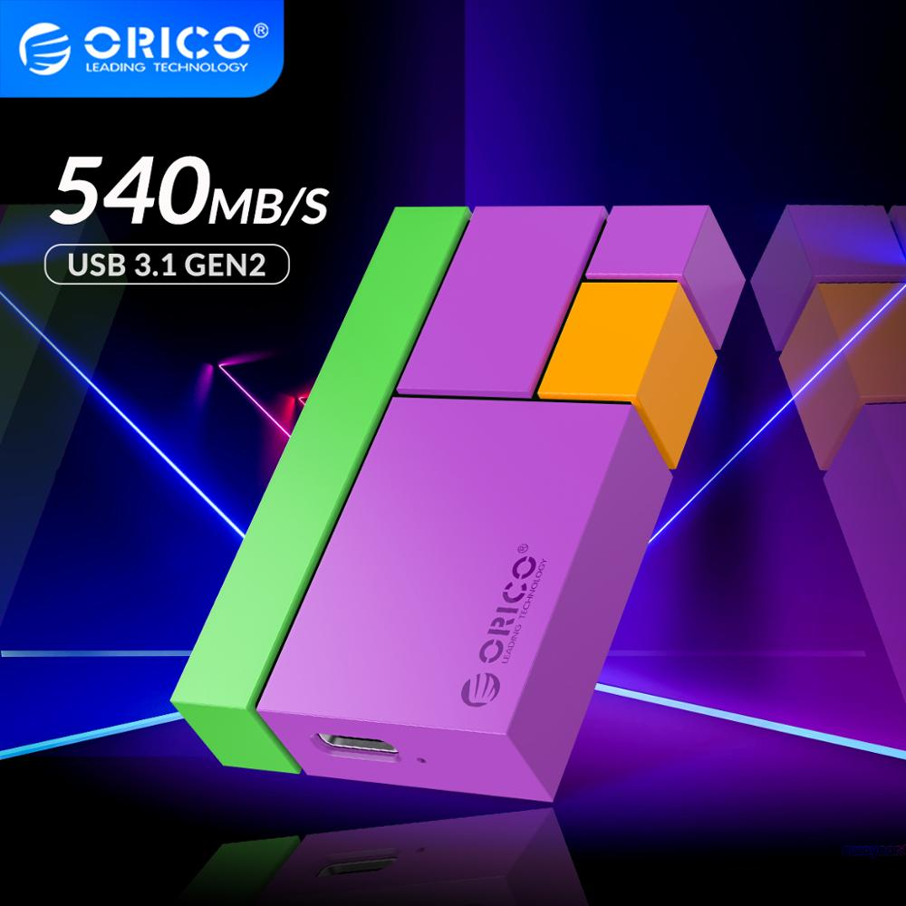 ORICO Chroma External SSD Hard Drive 1TB 500GB 250GB Mini Portable SSD Type C 540M/S Colorful Solid State Drive for Young Lady
