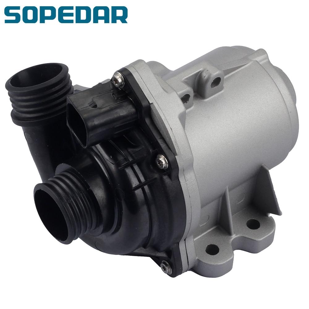 Sopedar سيارة مضخة المياه الكهربائية ترموستات 11517632426 ل BMW 1 3 5 6 سلسلة E60 E61 E70 E71 E88 E90 F01 135i 335i X3 X5 X6 Z4