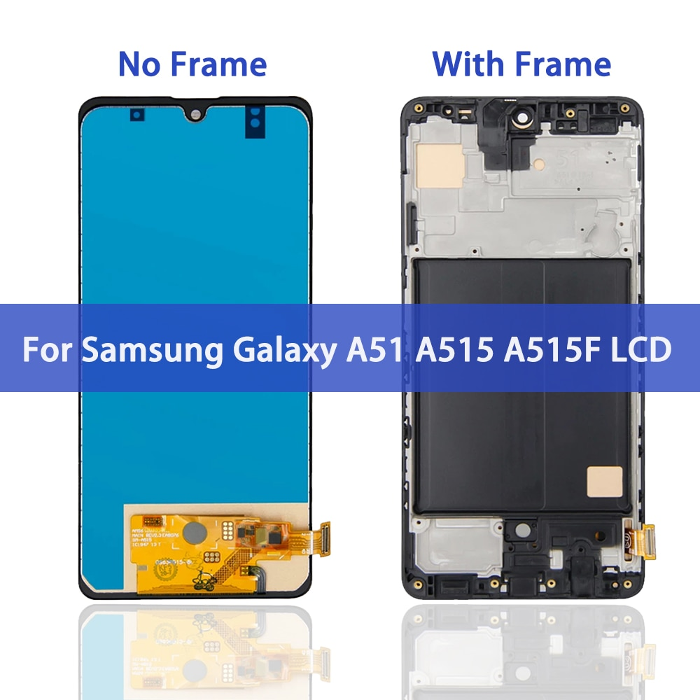 Original 6.4'' Super AMOLED LCD Display for Samsung Galaxy A51 A515 A515F A515F/DS A515FD LCD Screen Touch Digitizer Assembly enlarge