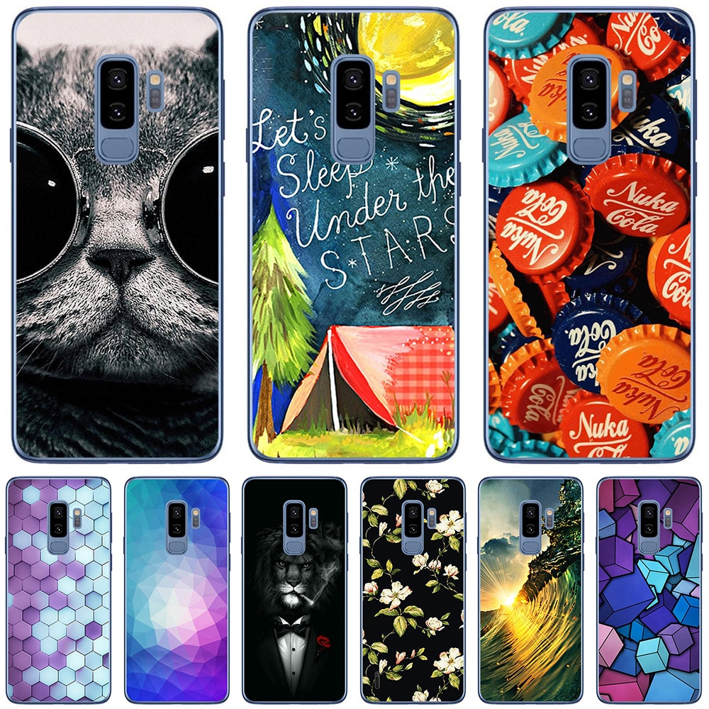 For Samsung Galaxy S8 S8 Plus S9 S9 Plus Cases Silicone Soft TPU Back Cover Protective Cute Fundas L
