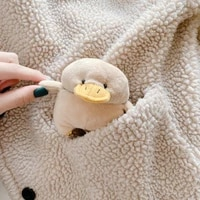 cartoon cute 3d plush duck hand warmer silicone bluetooth wireless earphone case for apple airpods pro 3 for airpods 1 2 cover