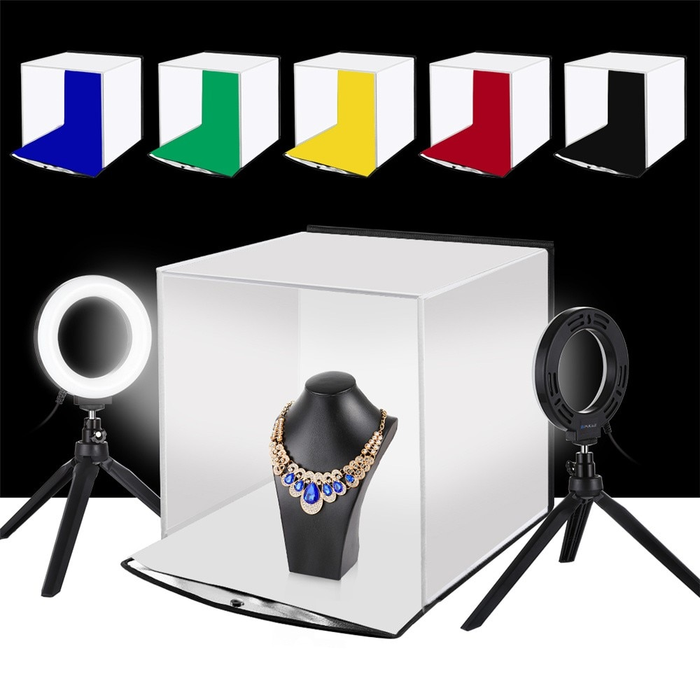 Lighting For Shooting Lights For Photography 30 Cm Led Soft Box Portable Simple Folding Studio Photo Lamp Cube Ring Selfie Round