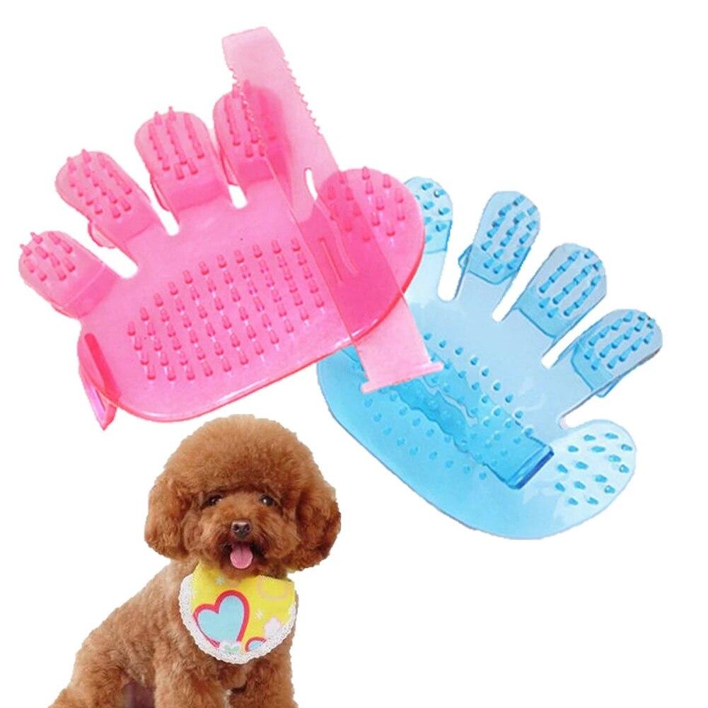 Fashion Pet Bathing Brush Hand Massage Palm Five Finger Brush Beauty Supplies Pet Cleaning