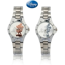New Kind of Mickey Mouse Gold Silver Watch with Steel Belt Fashion for Primary and Secondary School