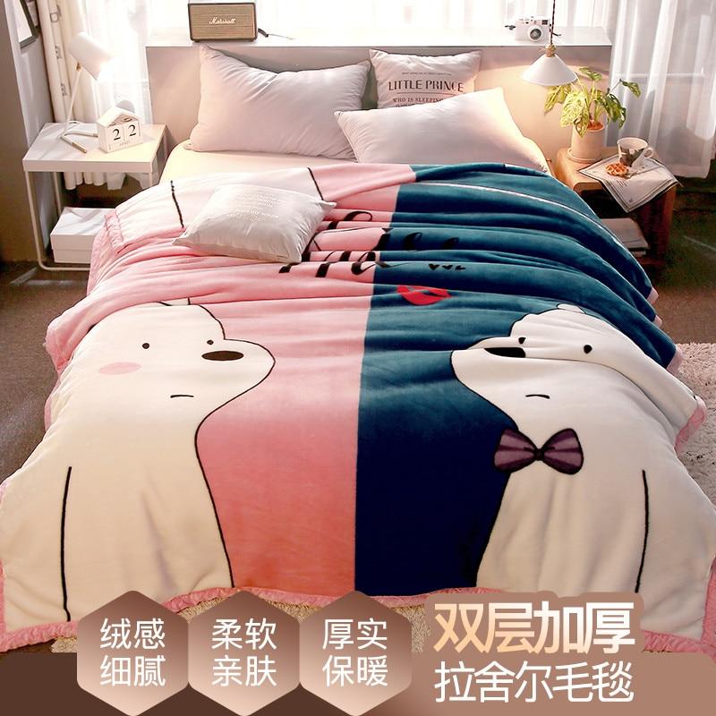 لحاف صيفي متعدد الوظائف بتكييف هواء ، غطاء سرير من القطن بنمط كرتوني حديث