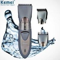 Kemei Rechargeable Hair Clipper Powerful Cordless Waterproof Razor Barber Electric Hair Trimmer Men's Haircut Machine EU Plug