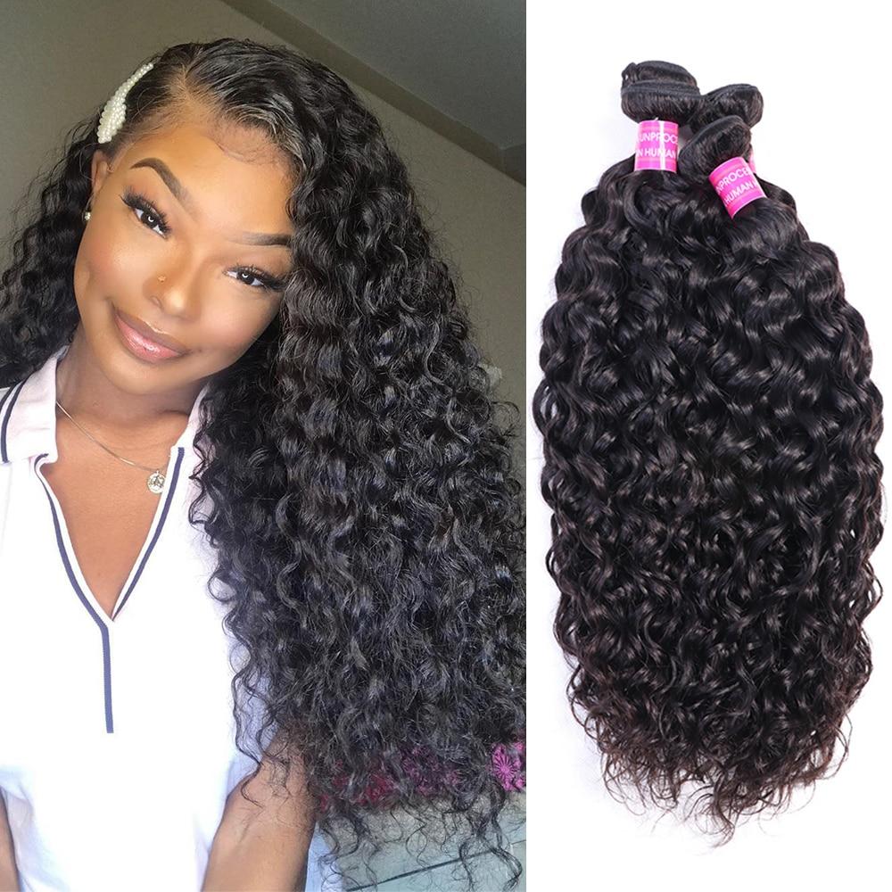 Bundles Hair Weaving Water Wave 10A Remy hair extension 8-30 inches 1/3/4 Bundles deals Brazilain De