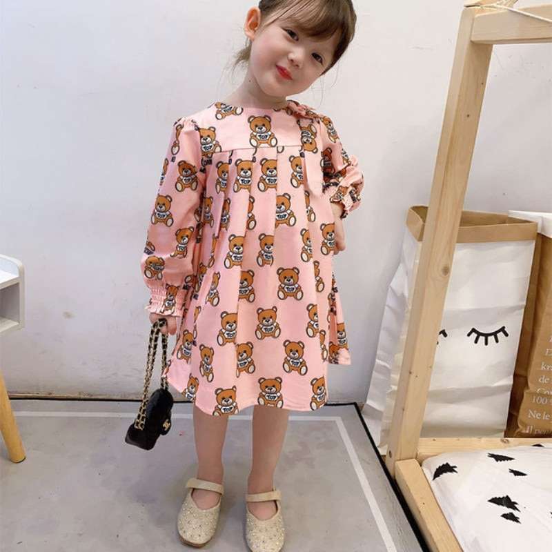 2020 Autumn/winter Girl Foreign-style princess dress, Long sleeved Dress of British style, party dresses for girls