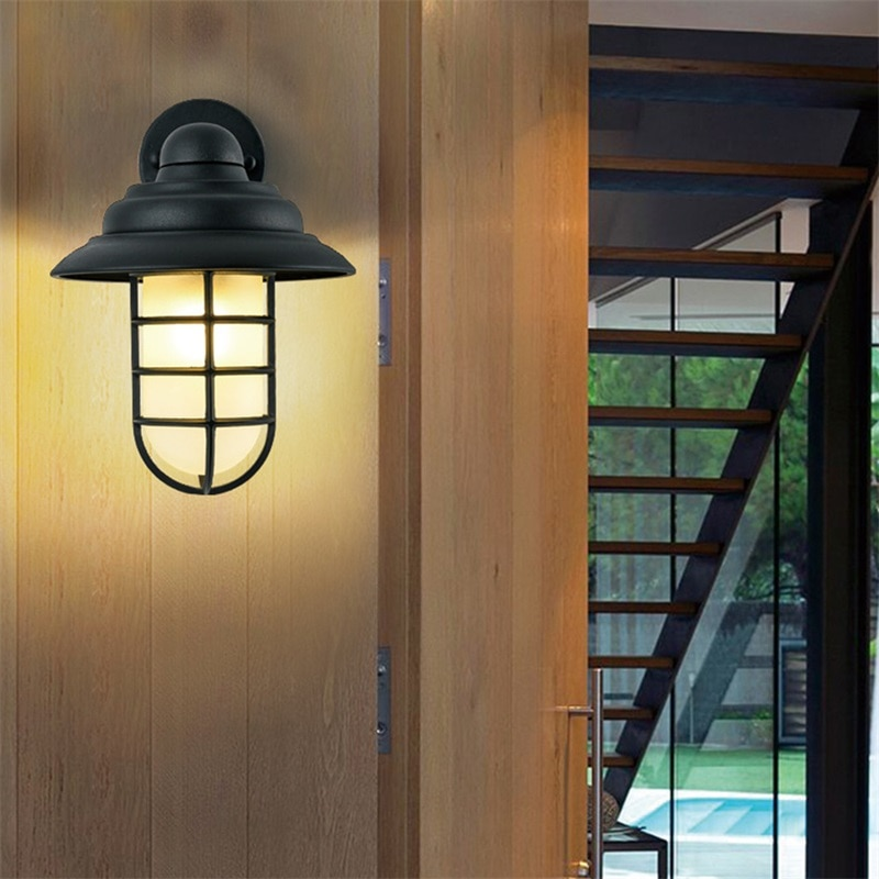 BRIGHT Retro Outdoor Wall Lamps Classical LED Lighting Waterproof IP65 Sconces For Home Porch Villa enlarge